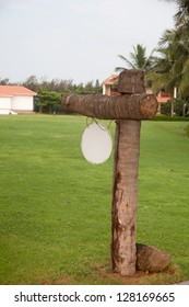 clear signboard on green grass