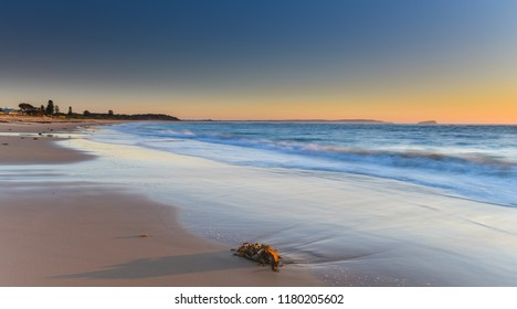 Clear Skies Sunrise Seascape - Sunrise from Hargraves Beach in Noraville on the Central Coast, NSW, Australia.