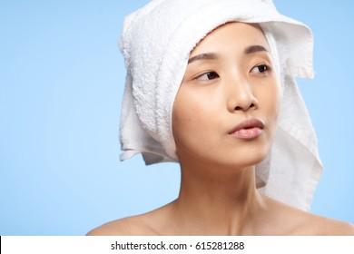 clear skin face woman asian portrait