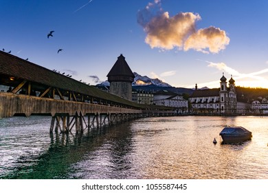 Clear Sky after rain in Lucerne, Switzerland