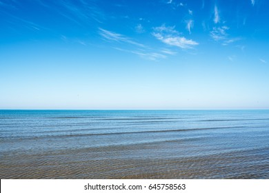 Clear sky and clear Baltic sea.