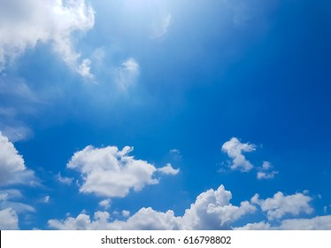 clear sky with clouds