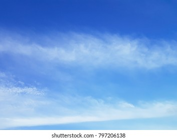 Clear sky with clouds , blue background