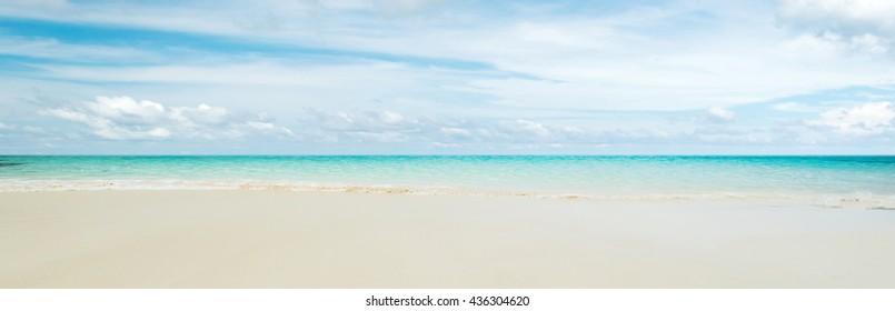 Clear sky and island beach. Summer shot