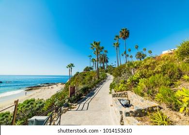 Clear sky over Laguna Beach. Orange County, California
