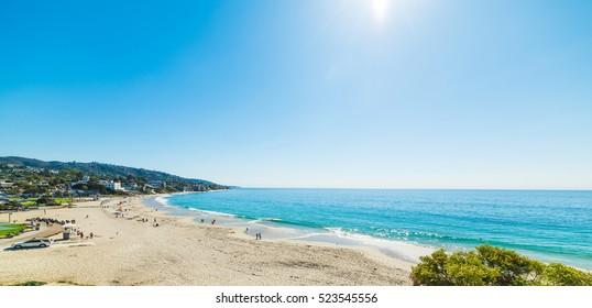 Clear sky over Laguna beach, California