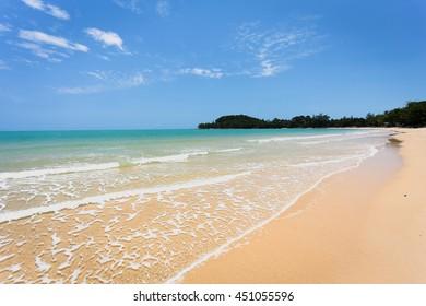 clear sky topical beach