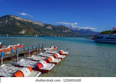 Clear sky view at Annecy lake, France