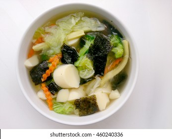 Clear Soup with Bean Curd ,Vegetarian Food, Healthy food