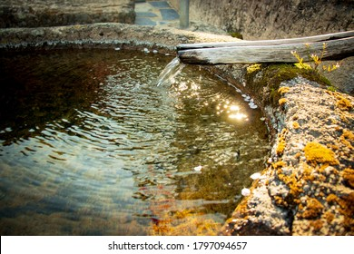 Clear spring water in Buddhist temple.