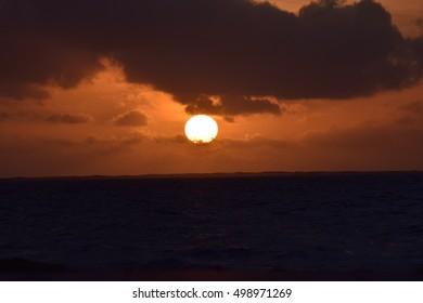 Clear Sun by the ocean