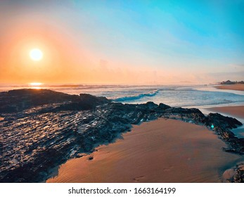 Clear sunrise on currumbin beach