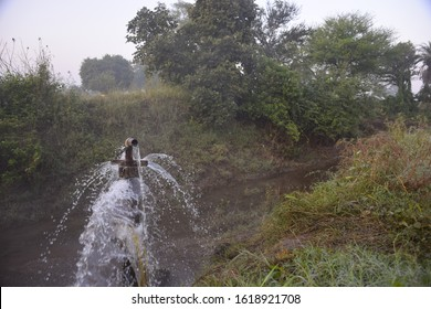 clear sweet and health water overflowing from the water jet on rainy days,