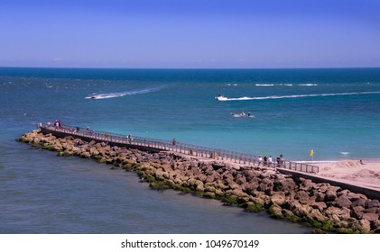 clear turquoise water at Sebastian Inlet, FL