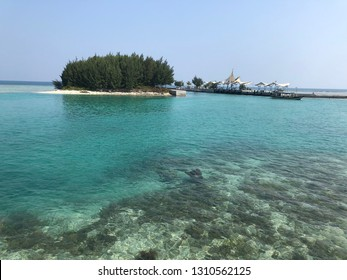 Clear underwater beach in Tidung Island, Thousand Island, Jakarta Indonesia