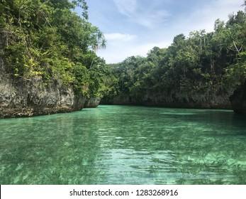 Clear water beach in Baer Island, Kei Island, Indonesia