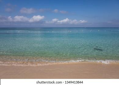 Clear Water and Beach of West Bay, Roatan, Honduras
