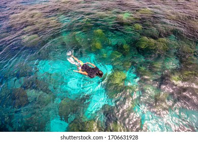 Clear water, beautiful nature at Rok island, Thailand