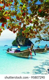 Clear water and blue sky. Krabi province, Thailand.