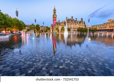Clear water in a Bradford fountain ,the largest water feature of its type in the UK.