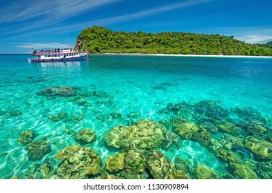 Clear water at Koh Rok,Rok Island,Krabi,Thailand