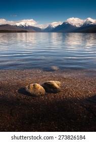 Clear Water Polished Rocks Lake McDonald Glacier National Park Montana