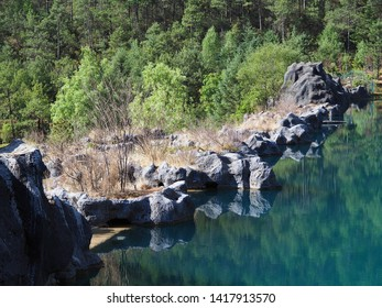 Clear water and rocks ,Beautiful nature in national park,China