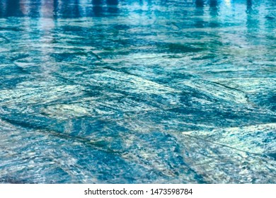 clear water in spring pool