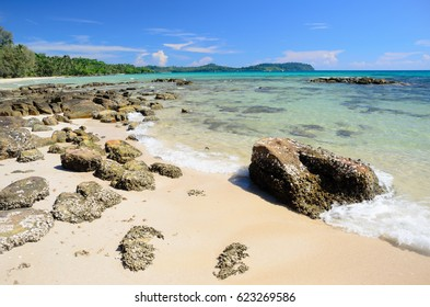 Clear water at Taphao beach on Koh Kood islands in Gulf of Thailand
