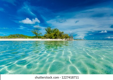 Clear waters of an islet in Bimini