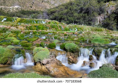 "Clear waters of Cañete river near Vilca village, ""Reserva paisajística Nor Yauyos-Cochas"", Peru"