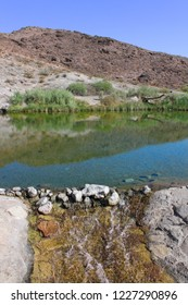 Clear waters of Rogers Spring in the hot desert of Nevada