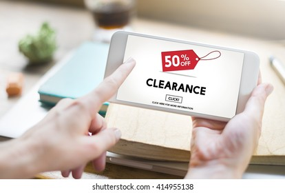 Clearance Promotion Discount Consumer Shopping Concept