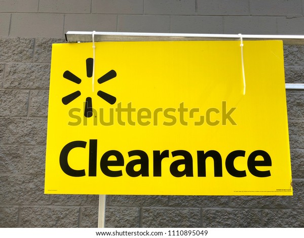 Clearance Sign Walmart Saint Augustine Florida Stock Photo