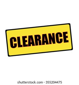 Clearance wording on rectangular signs