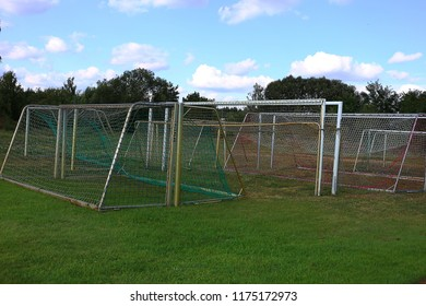 cleared up goalposts kept on site