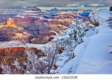 Clearing storm over south rim, Grand Canyon, Arizona