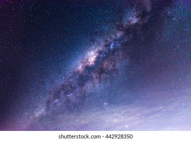 Clearly milky way on night sky.
