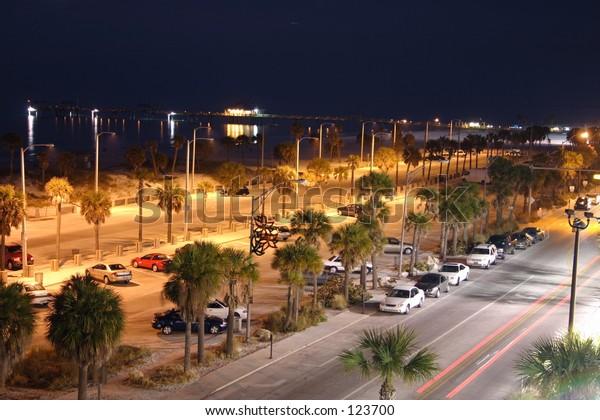 Clearwater beach night shot