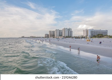 Clearwater Beach right before the sunset. This beach is usually rated as top 10 beaches in US. / Clearwater Beach, Florida