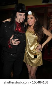 Cleeve Hall and Alicia Arden at the Monster Man Costume Ball, Cabo Wabo, Hollywood, CA 10-16-13
