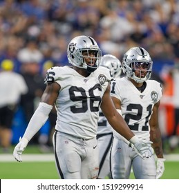 Clelin Ferrell #96 - Indianapolis Colts host Oakland Raiders on Sept. 29th 2019 at Lucas Oil Stadium in Indianapolis, IN. - USA
