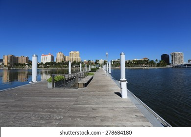 The Clematis Docks in downtown West Palm Beach are open to the public year round