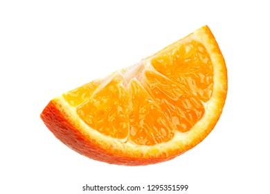 Clementine citrus fruit closeup isolated on white