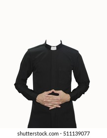 clergy uniform with isolated