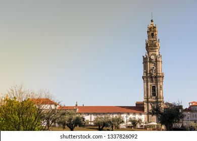 Clerigos Tower (Torre dos Clerigos) at sunset, Porto, Portugal