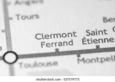 Clermont Ferrand, France on a geographical map.