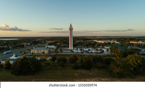"""""""Clermont, FL / USA 10-7-2019: Aerial view of the Citrus Tower at sunset."""""""