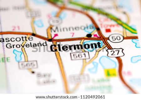 Clermont Florida Map.Clermont Florida Usa On Map Stock Photo Edit Now 1120492061
