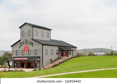 CLERMONT, KY  - OCTOBER 13: Jim Beam Distillery at Clermont, KY on  October 13, 2012. Jim Beam is a brand of Kentucky straight bourbon whiskey, one of seven distilleries along  Kentucky Bourbon Trail.